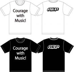 「A応P」 Courage with Music!Tシャツ