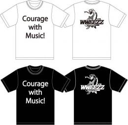 「WWEEZZ」 Courage with Music!Tシャツ