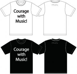 「NavyCity」 Courage with Music!Tシャツ