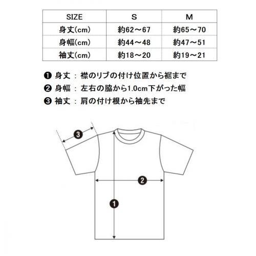 リリィクラウンTシャツサイズ表
